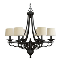 Progress Lighting Thomasville Meeting Street 6 Light Chandelier in Forged Black P4567-80