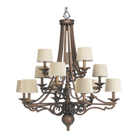 Progress Lighting Thomasville Meeting Street 12 Light Chandelier in Roasted Java P4569-102