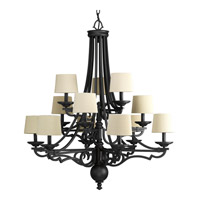 Progress Lighting Thomasville Meeting Street 12 Light Chandelier in Forged Black P4569-80
