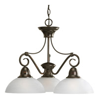 Progress Lighting Pavilion 3 Light Chandelier in Antique Bronze P4579-20