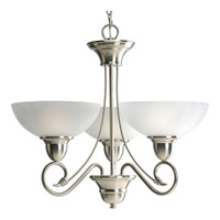 Progress P4580-09 Pavilion 3 Light 24 inch Brushed Nickel Chandelier Ceiling Light