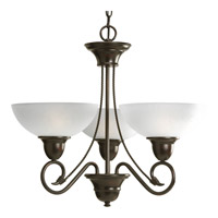 Progress Lighting Pavilion 3 Light Chandelier in Antique Bronze P4580-20
