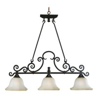 Progress Lighting Thomasville Guildhall 3 Light Chandelier in Forged Black P4583-80