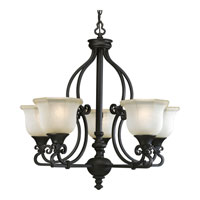 Progress Lighting Thomasville Guildhall 5 Light Chandelier in Forged Black P4584-80