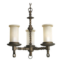 Santiago 3 Light 18 inch Roasted Java Chandelier Ceiling Light