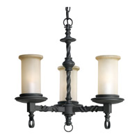 Progress Lighting Thomasville Santiago 3 Light Chandelier in Forged Black P4586-80