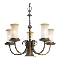 Santiago 5 Light 24 inch Roasted Java Chandelier Ceiling Light