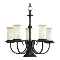 Santiago 5 Light 24 inch Forged Black Chandelier Ceiling Light