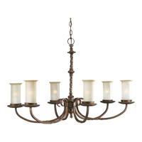 Santiago 6 Light 38 inch Roasted Java Chandelier Ceiling Light