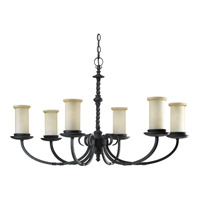 Santiago 6 Light 38 inch Forged Black Chandelier Ceiling Light