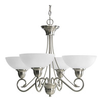 Progress Lighting Pavilion 4 Light Chandelier in Brushed Nickel P4592-09