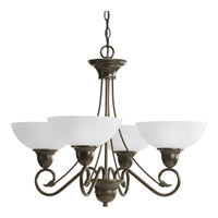Progress Lighting Pavilion 4 Light Chandelier in Antique Bronze P4592-20