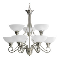 Progress P4603-09 Pavilion 9 Light 33 inch Brushed Nickel Chandelier Ceiling Light