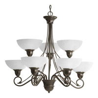 Progress P4603-20 Pavilion 9 Light 33 inch Antique Bronze Chandelier Ceiling Light