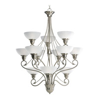 Progress Lighting Pavilion 12 Light Chandelier in Brushed Nickel P4604-09