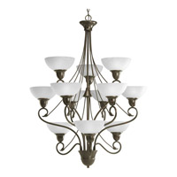 Progress Lighting Pavilion 12 Light Chandelier in Antique Bronze P4604-20
