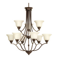 Progress P4611-20 Spirit 9 Light 32 inch Antique Bronze Chandelier Ceiling Light