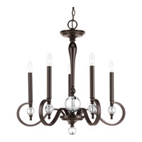 Esteem 5 Light 27 inch Antique Bronze Chandelier Ceiling Light