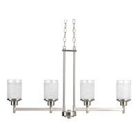 Progress Lighting Alexa 4 Light Chandelier in Brushed Nickel P4619-09