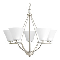 Progress Lighting Bravo 5 Light Chandelier in Brushed Nickel P4623-09
