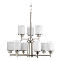 Progress Lighting Alexa 9 Light Chandelier in Brushed Nickel P4626-09