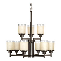 Progress Lighting Alexa 9 Light Chandelier in Antique Bronze P4626-20