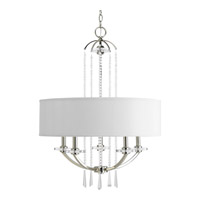 Progress Lighting Thomasville Nisse 5 Light Chandelier in Polished Nickel P4629-104