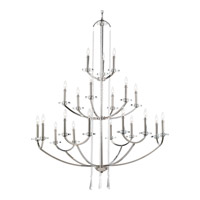 Progress P4630-104 Nisse 21 Light 44 inch Polished Nickel Chandelier Ceiling Light