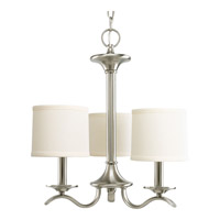 Progress Lighting Inspire 3 Light Chandelier in Brushed Nickel P4632-09
