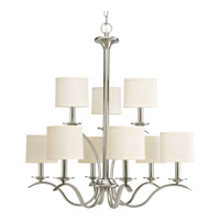 Progress Lighting Inspire 9 Light Chandelier in Brushed Nickel P4638-09