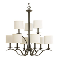 Inspire 9 Light 29 inch Antique Bronze Chandelier Ceiling Light