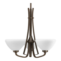 Progress Lighting Rave 3 Light Chandelier in Forged Bronze P4641-77