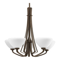 Progress Lighting Rave 5 Light Chandelier in Forged Bronze P4642-77