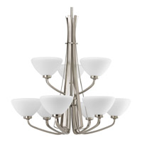 Rave 9 Light 27 inch Brushed Nickel Chandelier Ceiling Light