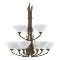 Progress Lighting Rave 9 Light Chandelier in Forged Bronze P4643-77