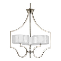 Progress Lighting Thomasville Caress 3 Light Chandelier in Polished Nickel P4644-104WB