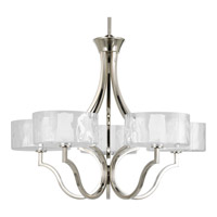 Caress 5 Light 27 inch Polished Nickel Chandelier Ceiling Light