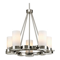 Progress Lighting Bingo 5 Light Chandelier in Brushed Nickel P4647-09