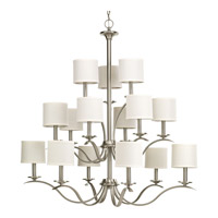 Progress Inspire 15 Light Tier Chandelier in Brushed Nickel P4650-09