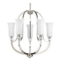 Progress Elina 5 Light Chandelier in Polished Nickel P4651-104