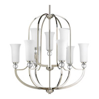 Elina 9 Light 30 inch Polished Nickel Chandelier Ceiling Light