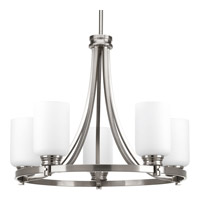 Progress Lighting Orbitz 5 Light Chandelier in Brushed Nickel P4659-09