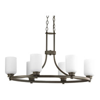 Progress Lighting Orbitz 6 Light Chandelier in Antique Bronze P4660-20