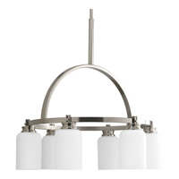 Progress Lighting Orbitz 6 Light Chandelier in Brushed Nickel P4661-09