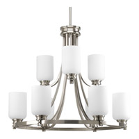 Orbitz 9 Light 27 inch Brushed Nickel Chandelier Ceiling Light