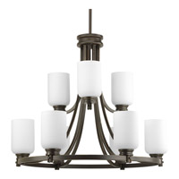 Progress Lighting Orbitz 9 Light Chandelier in Antique Bronze P4663-20