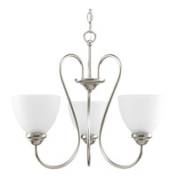 Heart 3 Light 22 inch Brushed Nickel Chandelier Ceiling Light
