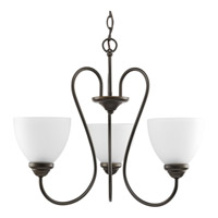 Progress Lighting Heart 3 Light Chandelier in Antique Bronze P4664-20