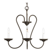 Progress Lighting Heart 3 Light Chandelier in Antique Bronze P4665-20