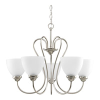 Progress P4666-09 Heart 5 Light 26 inch Brushed Nickel Chandelier Ceiling Light